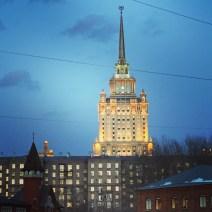 Hotel Ukraina beleuchtet