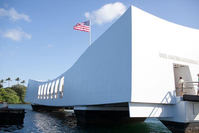 Honeymoon in Hawaii. Pearl Harbor