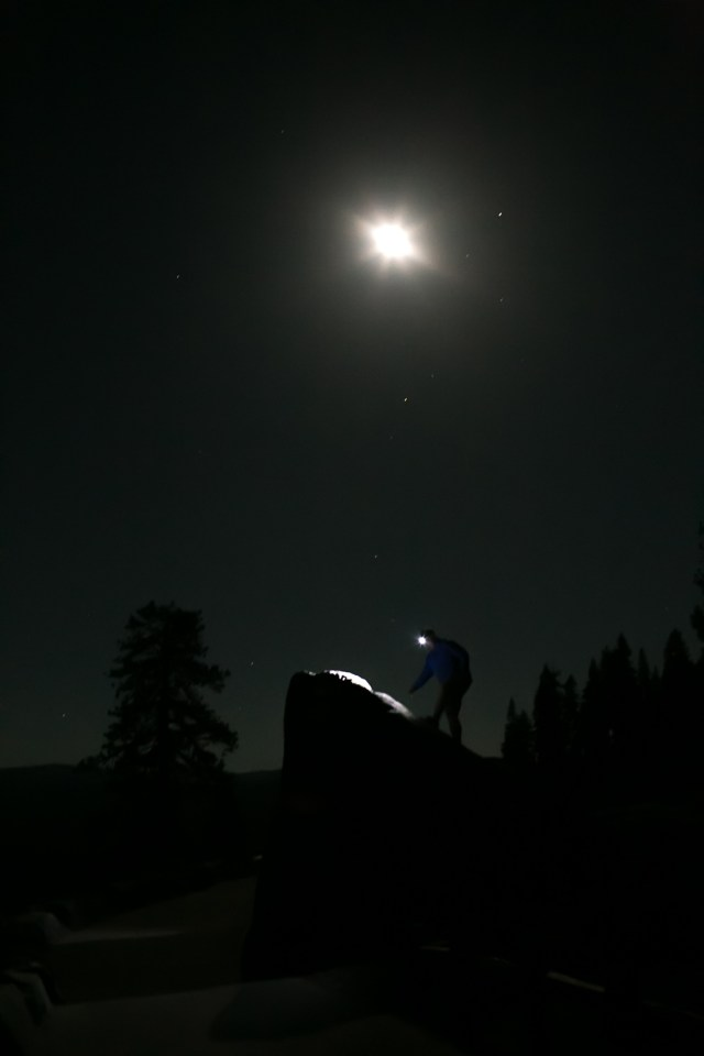 glacier point at night