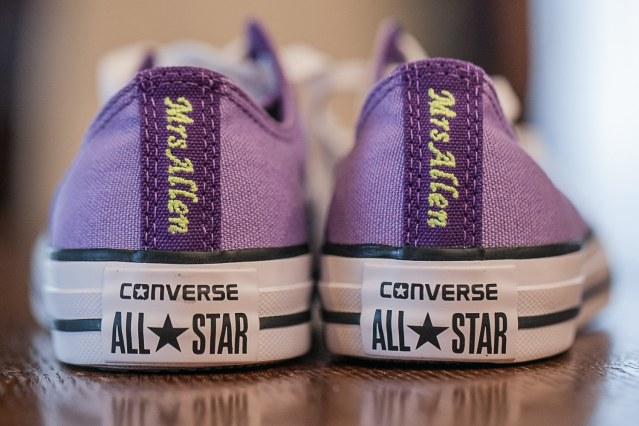 custom purple converse