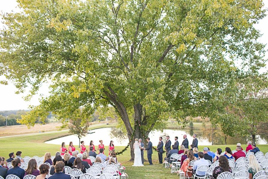 outdoor ceremony site