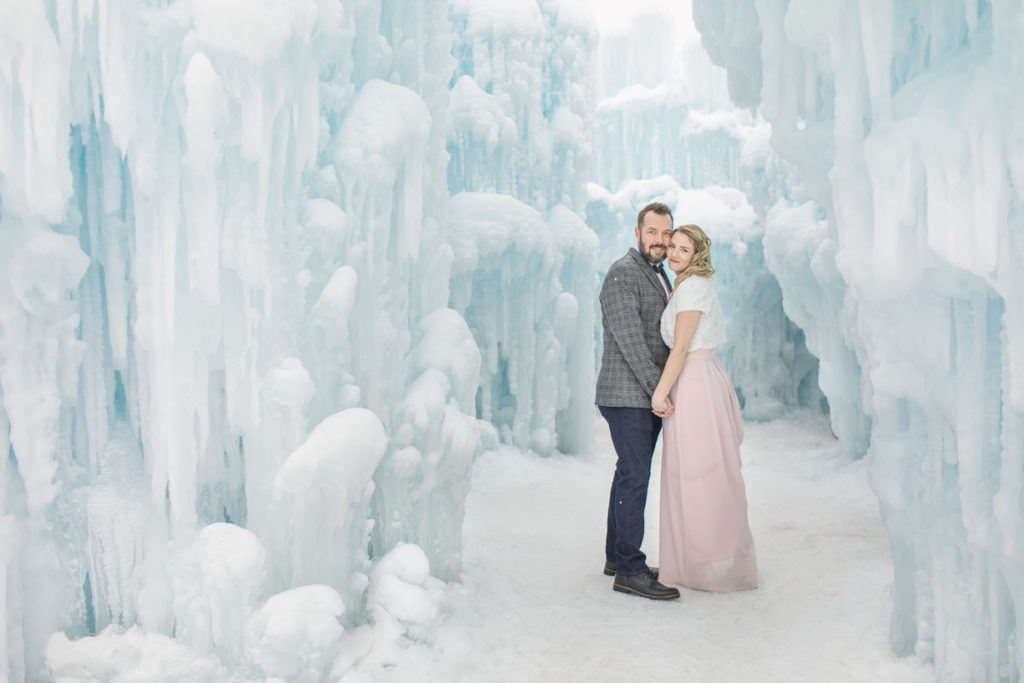 Ice castle engagement