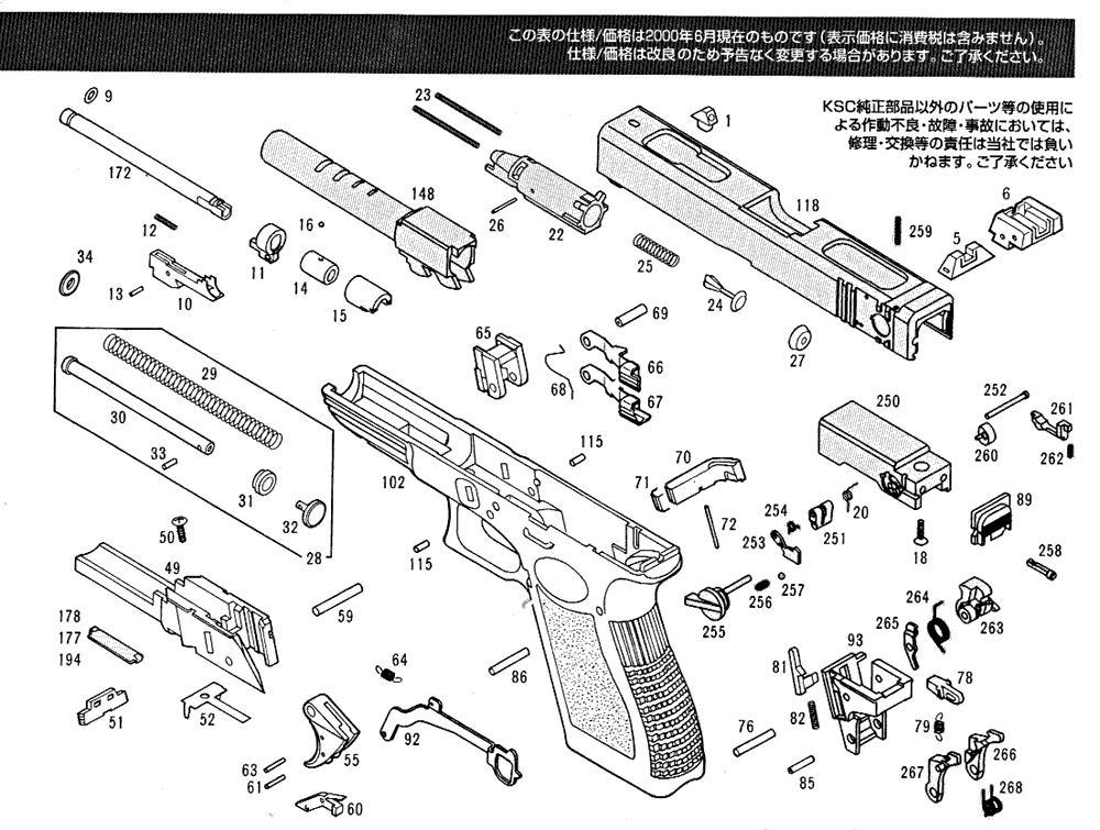 Exploded Diagram Ksc Glock 18c  U2013 Ksc Part  U2013 Original