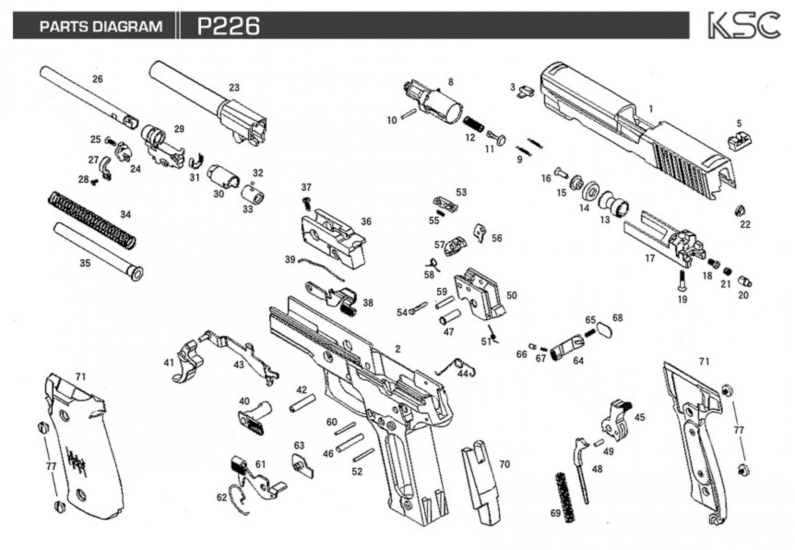 Exploded Diagram Ksc P226 Ksc Part Original Worldwide