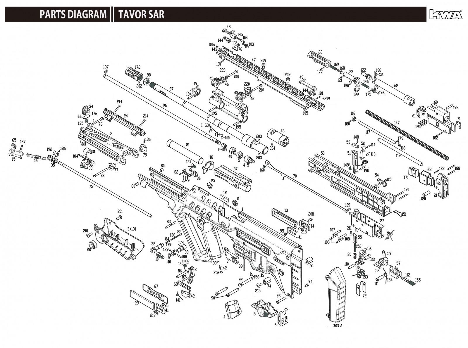 Kwa Tavor Exploded Diagram Ksc Part Original