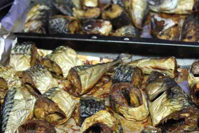 Mackerel Fish . Grilled Mackerel Fish for Tomato stew