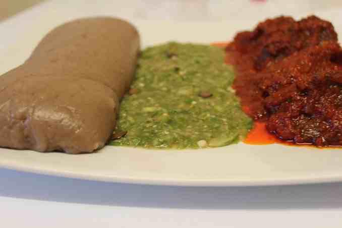 amala , okro and stew