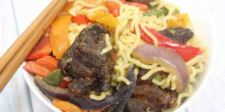 Suya Noodles Stir Fry