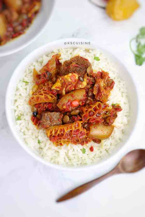 Locust beans Stew. How to cook locust beans stew