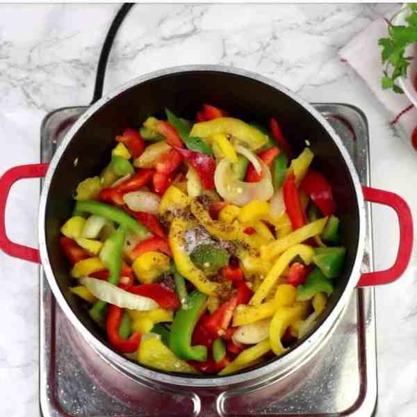 Stir fry step by step