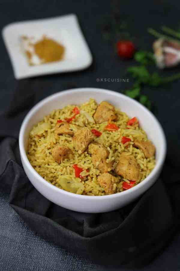 Chicken Curry rice. Curried rice. easy chicken rice curry