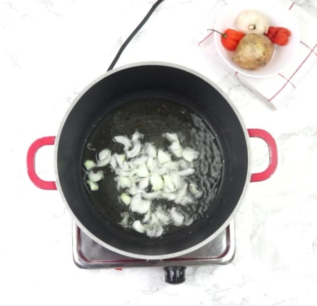 Sautee onions in oil for few minutes