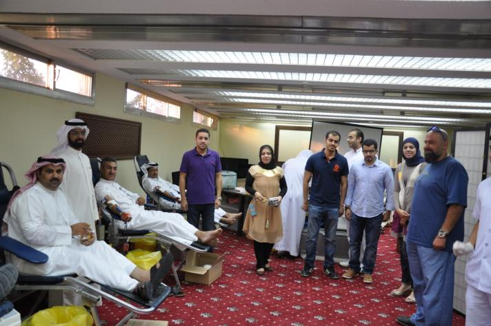 40 كيس دم حصيلة حملة التبرع بجمعية المهندسين