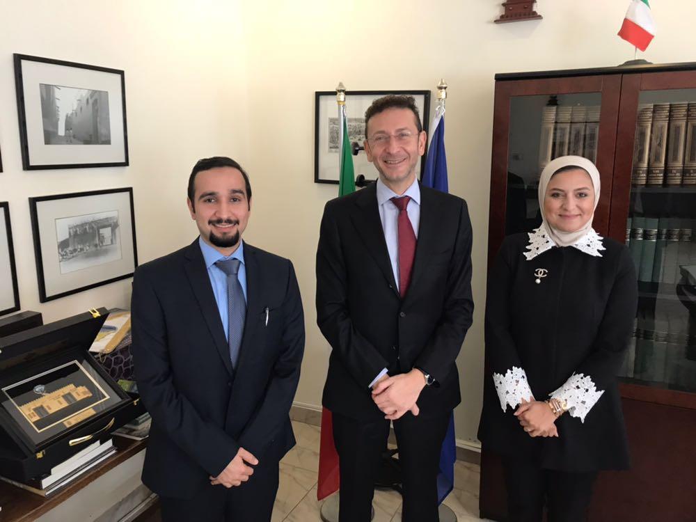 السفير الإيطالي بحث والمهندسين مشاركتهم بمؤتمر روما الدولي