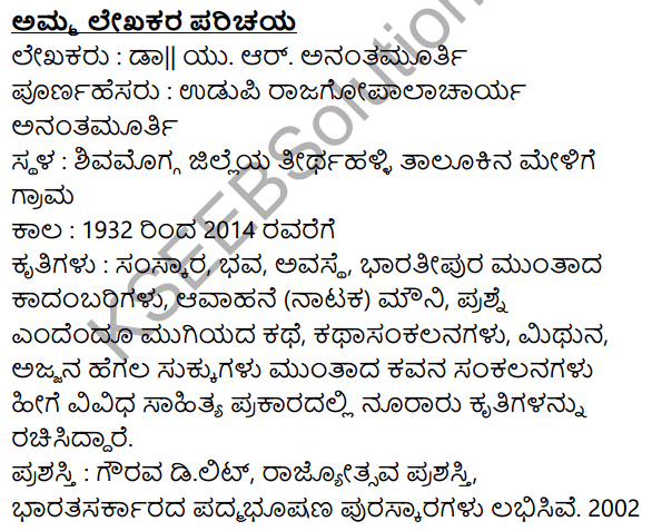 Amma Summary in Kannada 1