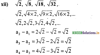 KSEEB Solutions for Class 10 Maths Chapter 1 Arithmetic Progressions Ex 1.1 12