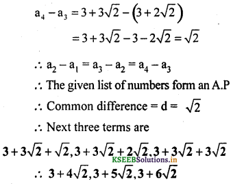 KSEEB Solutions for Class 10 Maths Chapter 1 Arithmetic Progressions Ex 1.1 8