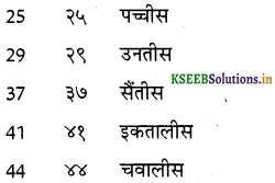 KSEEB Solutions for Class 6 Hindi वल्लरी Chapter 24 गिनती (21 से 50 तक) 8