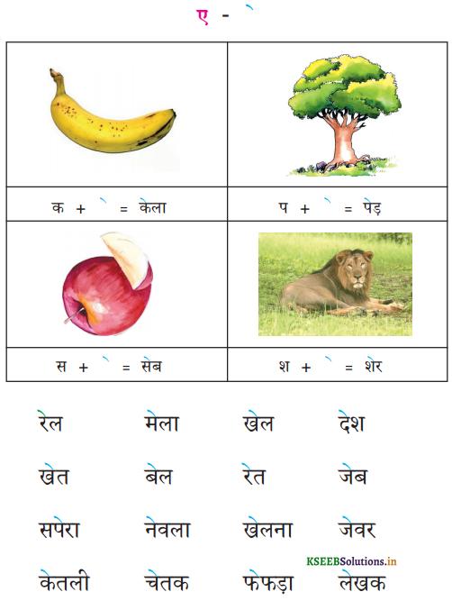 KSEEB Solutions for Class 6 Hindi वल्लरी Chapter 4 स्वर और उनकी मात्राएँ 7