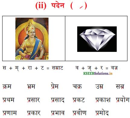 KSEEB Solutions for Class 6 Hindi वल्लरी Chapter 5 'र' की मात्राएँ रेफ पदेन 2