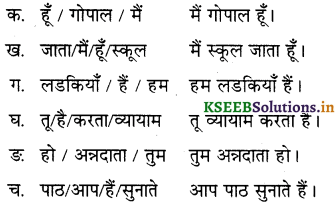 KSEEB Solutions for Class 6 Hindi वल्लरी Chapter 8 मैं, हम, तू, तुम, आप 11