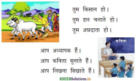 KSEEB Solutions for Class 6 Hindi वल्लरी Chapter 8 मैं, हम, तू, तुम, आप 2