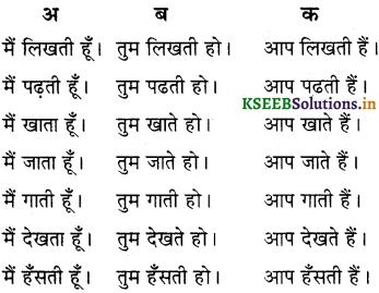 KSEEB Solutions for Class 6 Hindi वल्लरी Chapter 8 मैं, हम, तू, तुम, आप 9