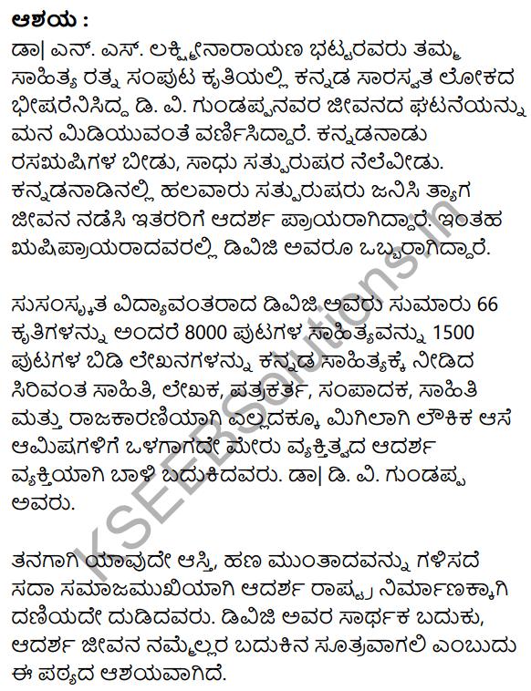 Sarthaka Badukina Sadhaka Summary in Kannada 2