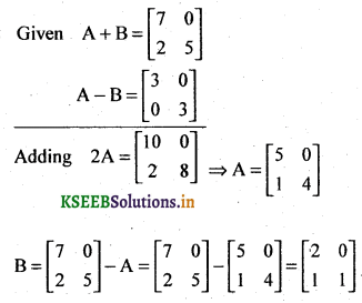 2nd PUC Basic Maths Question Bank Chapter 1 Matrices and Determinants 17