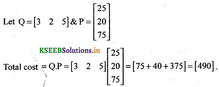 2nd PUC Basic Maths Question Bank Chapter 1 Matrices and Determinants 20
