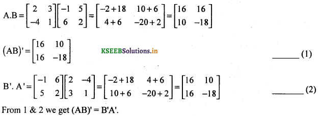 2nd PUC Basic Maths Question Bank Chapter 1 Matrices and Determinants 30