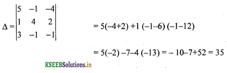2nd PUC Basic Maths Question Bank Chapter 1 Matrices and Determinants 60