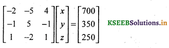 2nd PUC Basic Maths Question Bank Chapter 1 Matrices and Determinants 70