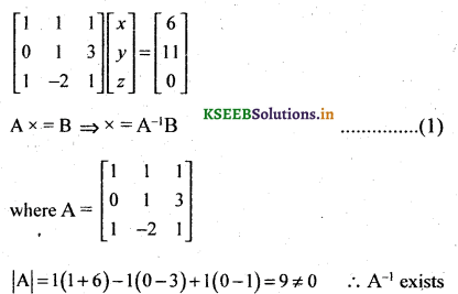 2nd PUC Basic Maths Question Bank Chapter 1 Matrices and Determinants 73