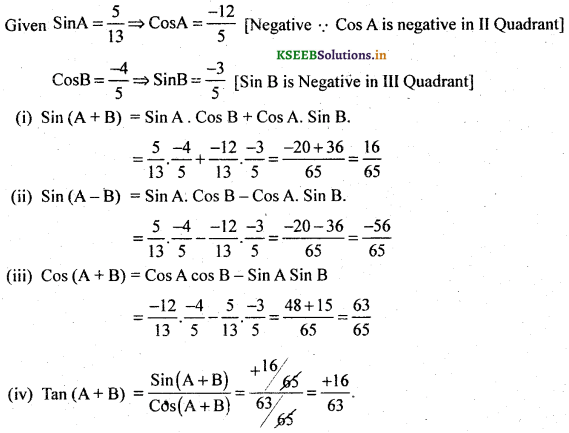 2nd PUC Basic Maths Question Bank Chapter 14 Compound Angles, Multiple Angles, Sub Multiples Angles and Transformation Formulae 36