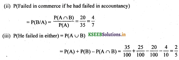 2nd PUC Basic Maths Question Bank Chapter 3 Probability 19