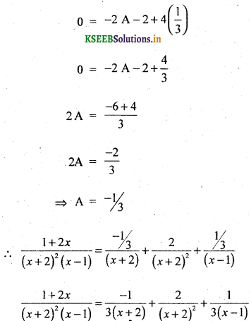 2nd PUC Basic Maths Question Bank Chapter 5 Partial Fractions 11