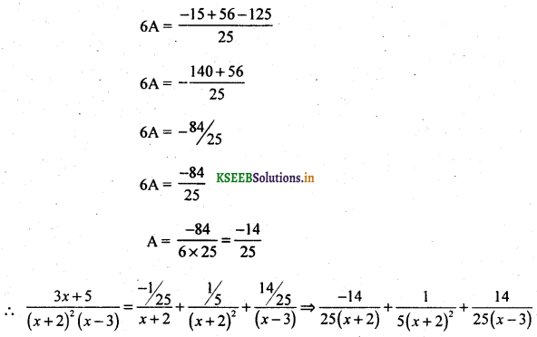 2nd PUC Basic Maths Question Bank Chapter 5 Partial Fractions 14