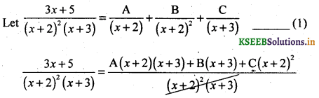 2nd PUC Basic Maths Question Bank Chapter 5 Partial Fractions 15