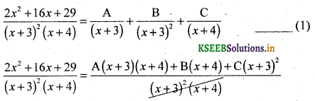 2nd PUC Basic Maths Question Bank Chapter 5 Partial Fractions 19