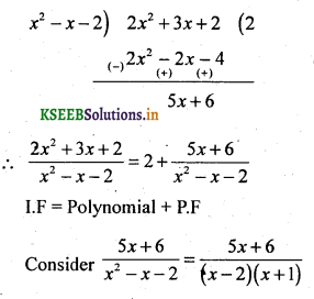 2nd PUC Basic Maths Question Bank Chapter 5 Partial Fractions 23