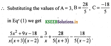 2nd PUC Basic Maths Question Bank Chapter 5 Partial Fractions 4