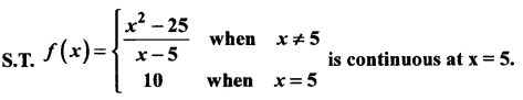 2nd PUC Basic Maths Question Bank Chapter 17 Limit and Continuity of a Function 122