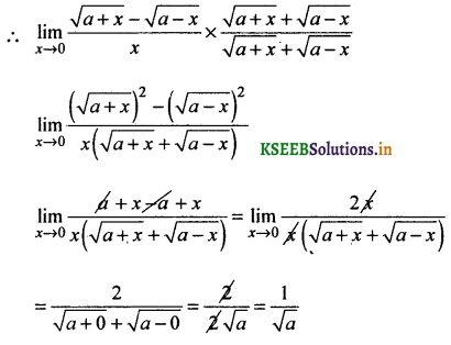 2nd PUC Basic Maths Question Bank Chapter 17 Limit and Continuity of a Function 40