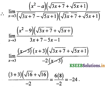 2nd PUC Basic Maths Question Bank Chapter 17 Limit and Continuity of a Function 47