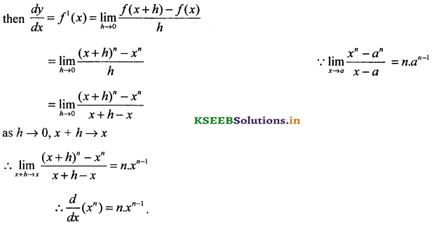 2nd PUC Basic Maths Question Bank Chapter 18 Differential Calculus 25