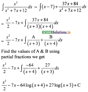 2nd PUC Basic Maths Question Bank Chapter 20 Indefinite Integrals 61