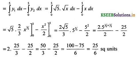 2nd PUC Basic Maths Question Bank Chapter 21 Definite Integral and its Applications to Areas 62