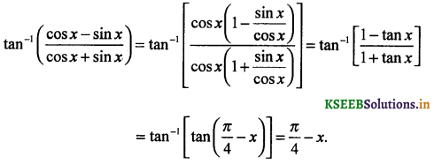 2nd PUC Maths Question Bank Chapter - 2 Inverse Trigonometric Functions - 45