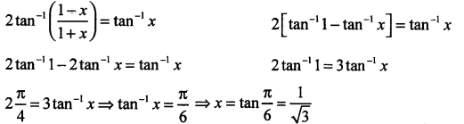 2nd PUC Maths Question Bank Chapter - 2 Inverse Trigonometric Functions - 61